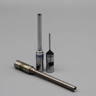 Hartchrom-Qualität (HD), hohe Härte , Gesamtlänge 85mmm 11-er Schaft, blau makiert