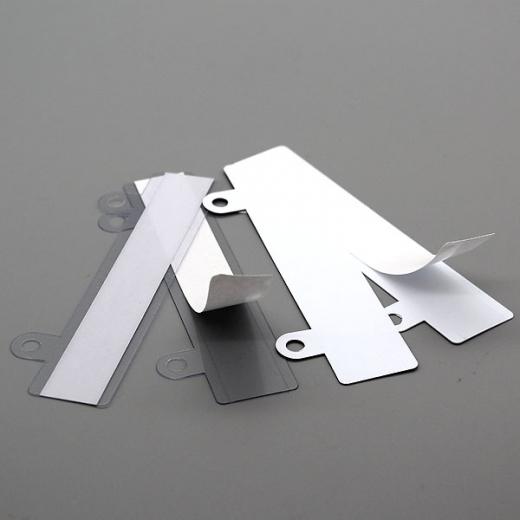 Abheftvorrichtungen, selbstklebend, 24 x 122 mm, Ösen 13 mm lang