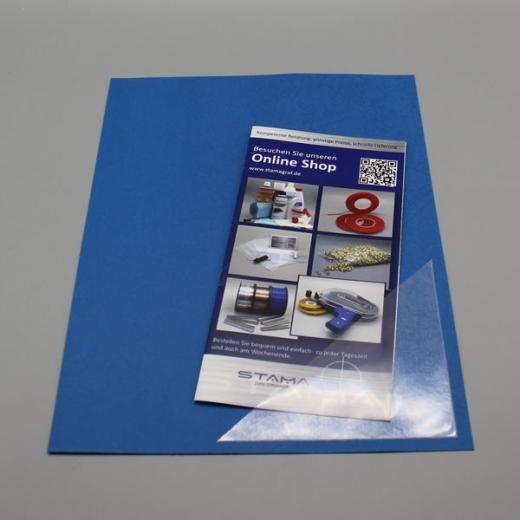 Dreiecktaschen 50 x 50 mm, selbstklebend, PP-Folie 120 µm, transparent