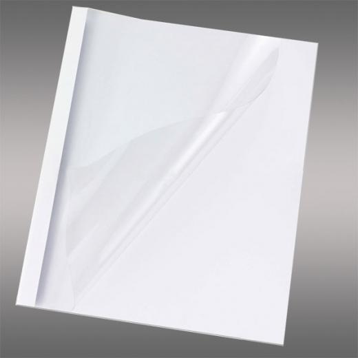 Optimal Mappen, DIN A4, Rückwand weiß, mit transparenter Vorderseite