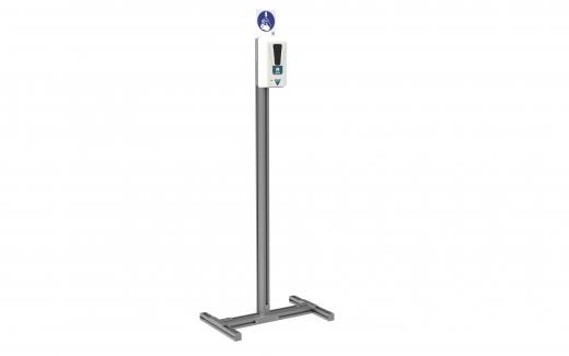 Desinfektionsspender + Aluprofil-Ständer