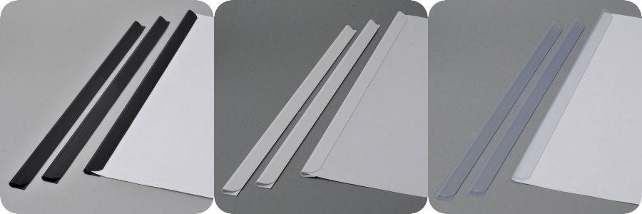 30 Blatt 100 x Klemmschienen Wei/ß DIN A5 LEO/'s FH 3-4 mm f/ür ca 210 mm Klemmleiste aus Hart-PVC Klemmschiene zum Binden von ungelochten Papier Unterlagen und Blattsammlungen