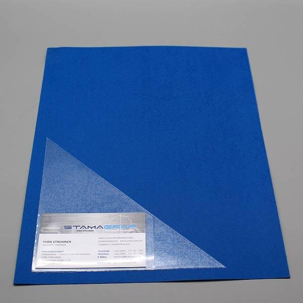 Dreiecktaschen 150 X 150 Mm Mit Aufgeschweißter Visitenkartentasche Für Die Linke Seite Selbstklebend Pp Folie 120 µm Transparent