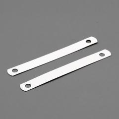 Kunststoffdeckleisten, 95 x 12 mm, 2-fach gelocht (80 mm), Hart-PVC 350 µm weiß