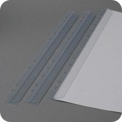 Klemmschienen DIN A4, 3-4 mm Füllhöhe, 297 x 15 mm