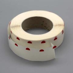 Einseitige Klebepunkte, 28 mm, rote Anfaßlasche (2000 Stück)