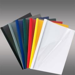Leder Exclusive,Mappe, DIN A4, Rückwand in verschied. Farben (Ledergenarbt) mit matt-transparenter Vorderseite