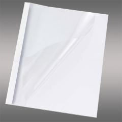 Chromo weiß Mappe, DIN A4, Rückwand hoch glänzend glatte Oberfläche mit matt-transparenter Vorderseite