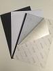 Vorsatzblätter schwarz, DIN A4, Querformat/landscape