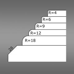 Eckenrund-Werkzeug 4mm für CCR 40