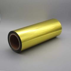 Spot Metal Folien Metallic auf Rolle, Farbe: metallic gold glänzend Farb-Nr.: 385, Rolle 320mm x 305lfm