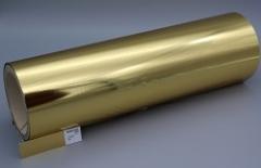 Spot Metal Folien Metallic auf Rolle, Farbe: metallic hell gold glänzend Farb-Nr.: 220, Rolle 320mm x 305lfm