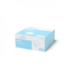 FFP2 Atemschutzmaske, weiß, CE Zertifiziert - Ohrenschlaufe