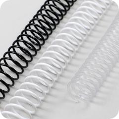 Spiralbinderücken, Plastikspiralen ( Coils ) DIN A4, 4:1 Teilung Ø 14mm