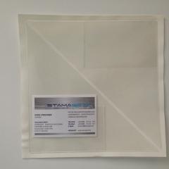 Dreiecktaschen 150 x 150 mm, mit aufgeschweißter Visitenkartentasche, für die linke Seite, selbstklebend, PP-Folie 120 µm, transparent