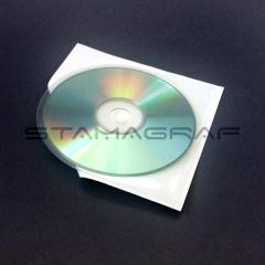 SK CD/DVD Tasche, oben offen, unten rund 126 x 126 mm