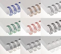 Drahtkammbindung Farbig, DIN A4, 2:1, 1/4, Ø 6,90 mm